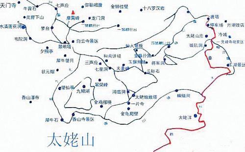 太姥山景区地图; 九鲤溪  太姥山雨量充沛; 一片瓦